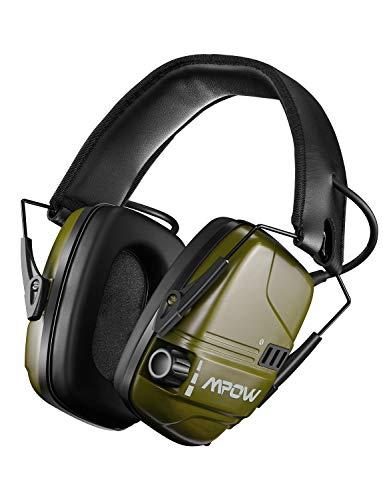 Mpow 094 Casque Anti-Bruit Actif Électronique, Casque Antibruit SNR 26dB à Protection Auditive de Réduction Intelligente du Bruit, Sonore Stéréo pour Tir Chasse Soudage Construction