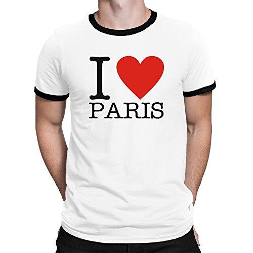 Teeburon i love paris classic maglietta ringer