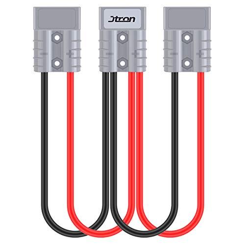 Jtron 50A 600 V Caricabatterie, Batteria a sgancio rapido, Spina per rimorchio, Spina con Cavo 1FT