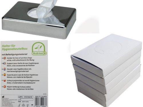 Distributeur de sac d'hygiène diverses couleurs + 5 x 30 Sac hygiène Sets de Medi-Inn