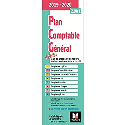 Plan comptable général - PCG - 2019-2020