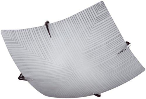 Honsel 23792 - Plafoniera in vetro con decorazione, cromata, colore: Bianco