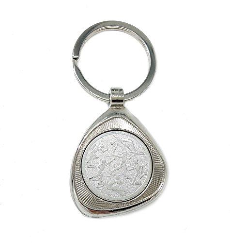 Familienkalender Leichtathletik Mehrere Sportarten Motive Schlüsselanhänger Edel Elegant Silber glänzend in Einer Geschenkbox