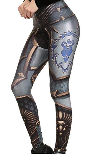Belsen Damen Deadpool Elastic Leggings Pants Bleistifthosen Cool