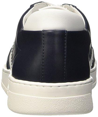 Bikkembergs Bounce 588 L.Shoe M Leather, Pompes à Plateforme Plate Homme, Bleu Bleu (Blue/White)