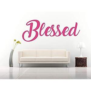 Blessed, Vinyl, Wandkunst Aufkleber, Wandbild, Aufkleber. Haus, Wanddekoration, Küche, Esszimmer, Schlafzimmer.