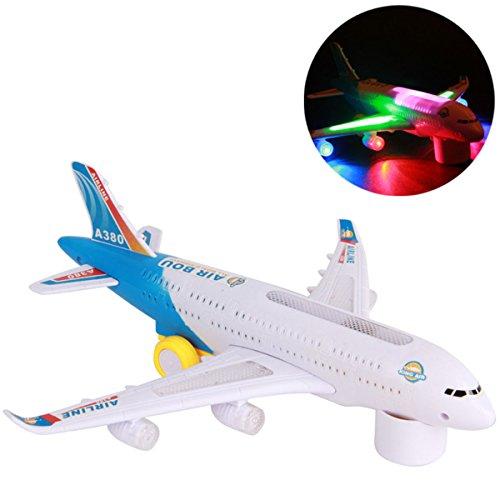 TOYMYTOY Modellino aereo A380 con luce per regalo e giocattolo di bambini
