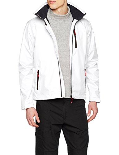 Helly Hansen Herren Crew Hooded Midlayer Jacket Jacke, Weiß, L