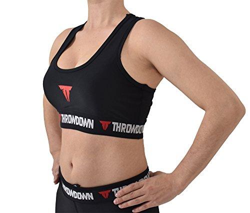 Throwdown Damen Combat Training Bra schwarz/lila