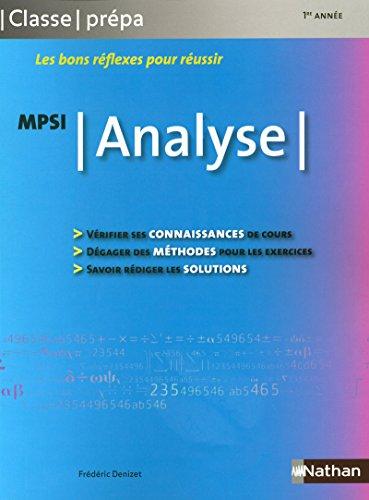 Analyse - MPSI
