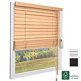 Sol Royal FSC® Holzjalousie SolDecor JH3 Jalousie aus Holz in Eichenoptik - 80x130 cm Tür- und Fensterjalousie Holz umweltschonend produziert - Jalousien Fenster