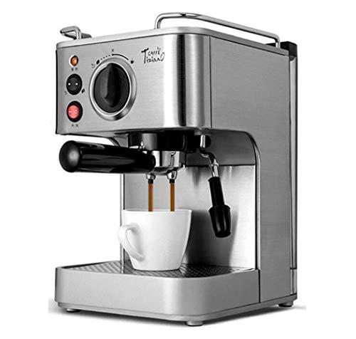 QHY Espresso-Maschinen-Haushalts-Handels Halbautomatischer Dampfkaffeekanne,Silber,A