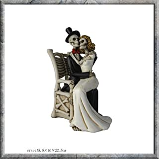 For Better, For Worse - Skeleton Bride and Groom Figurine by Alator Giftware