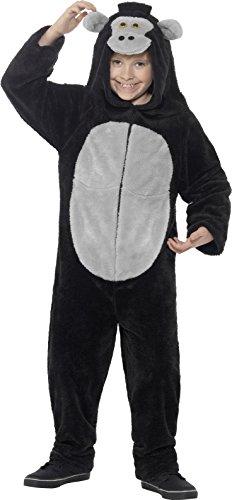 Smiffys Kinder Unisex Gorilla Kostüm, All-in-One mit Kapuze, Größe: L, 45283