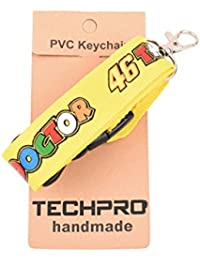 Techpro Fabric Locking ID Tag ID Card Holder With Valentino Rossi DR 46 Yellow Tag Design