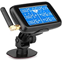 Sistema de Monitoreo de Presión de Neumáticos Inalámbrico para Auto TPMS para Camión Pantalla LCD con 6 Sensores Externos de Batería Reemplazable