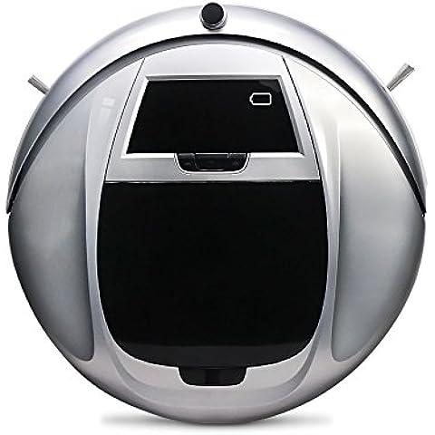 EVERTOP Aspiradora Robótica Casera Inteligente Barredora Automática para Pelo de Mascotas, Suciedad, Removedor de