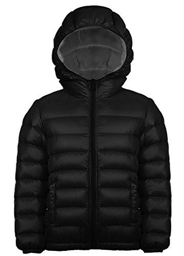 Jungen Outdoor Daunenjacke Sweatjacke Daunen Jacke winter kälteschutz Schwarz 110 (Motorrad-kinder Sweatshirt)