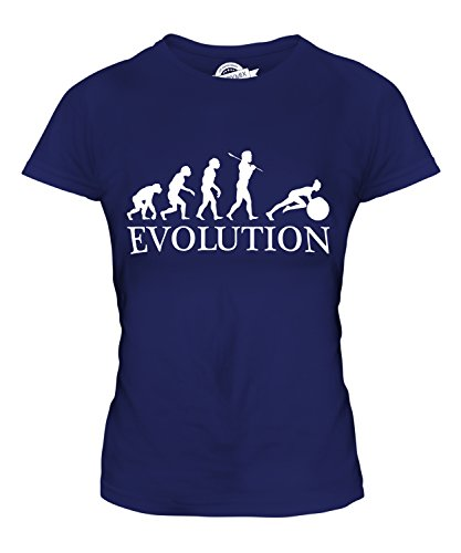 Candymix - Swiss Gym Ball Evolution Of Man - Ladies Fitted T Shirt Top T-Shirt