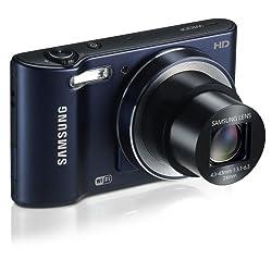 Samsung WB30F 16.2MP Smart Wi-Fi Digital Camera with 10x Optical Zoom and 3.0-inch LCD (Black), 4GB Card, Camera Case