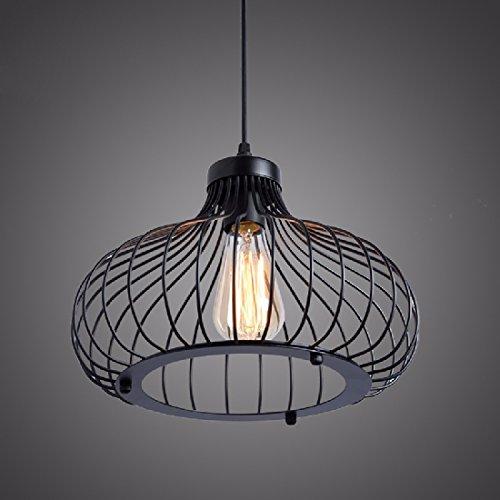 ZHGI Lampadari di ristorante villaggio americano, monotesta ferro filo maglia creativa personalizzata lampadari di zucca negozio
