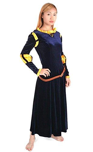 KeySmart Legende der Highlands Kostüm, Kleid von Merida Größe: L (Für Merida Frauen Kostüm)