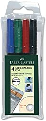Faber-Castell Fine Multi Markers - Pack of 4