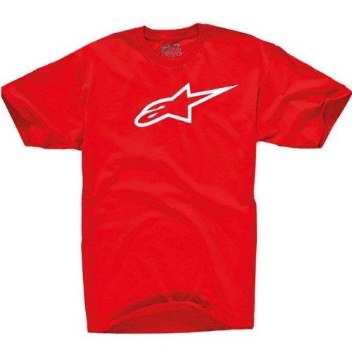 Alpinestars Herren Short Sleeve T-Shirts Ageless Classic Tee Rot (Rot/Weiß)