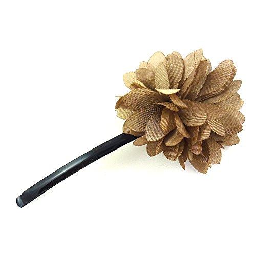 rougecaramel - Accessoires cheveux - Mini pince fleur - beige