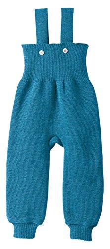 Disana 33102XX - Strick-Trägerhose Wolle blau, Size / Größe:74/80 (6-12 Monate)
