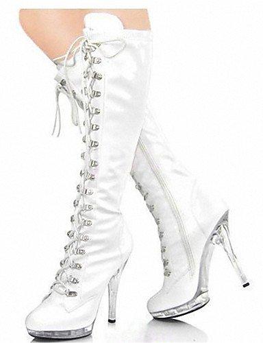 GGX timu Tagebuch Damen Stiefel/Winter Heels/Plattform/Fashion Stiefel/Schuhe Patent Leder Hochzeit/Party & Abend/Casual, white-us9.5-10 / eu41 / uk7.5-8 / cn42