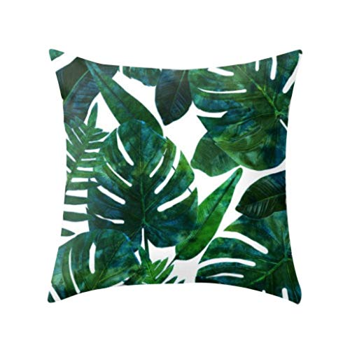 Winkey  Kissenbezüge, Tropische Pflanzen Polyester Kissenbezug Sofa Wurfauflage Set Dekoration - Seide Bestickt Indien Kissen Kissen