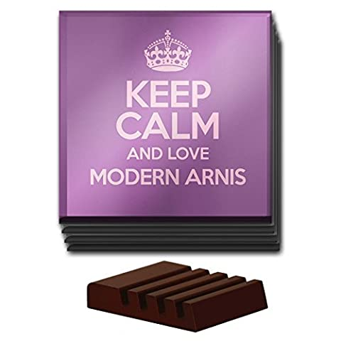 PURPLE Set of 4 Keep Calm and Love Modern Arnis Glass Coaster COLOUR 1289