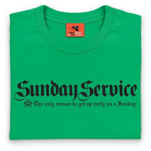 PistonHeads Sunday Service T-Shirt, Herren Keltisch-Grn