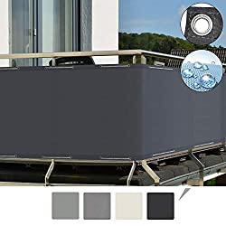 Sol Royal Balcony Privacy Screen 90x500 cm SolVision PB2 Sun Wind UV Protection Anthracite Screening with Eyelets & Cord