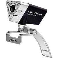 Webcam 1080P HD, PAPALOOK PA187 Web Cam PC avec Microphone Anti-bruit, Plug et Play, USB Caméra Pour Skype, MSN, AOL Instant Messenger, Youtube, Compatible avec Windows 10/8/7/XP/Vista