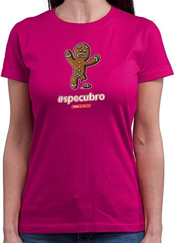 HARIZ  Damen T-Shirt Rundhals Pixbros Specubro Xmas Weihnachten Witzig Geschenke Winter Plus Geschenkkarten Pink S