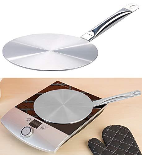Rosenstein & Söhne Induktionsplatte: Universal-Adapterplatte für Induktions-Kochfelder, Ø 24 cm (Magnetische Platten für Induktion)