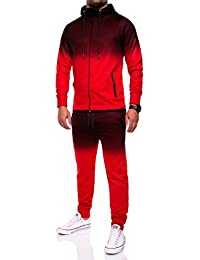 MT Styles ensemble pantalon de sport + sweat-Shirt jogging survêtement R-1058