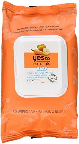 Yes to Carrots Naturals Baby Gesicht und Nase Tücher, 30Zählen
