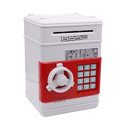 Tirelire, Netspower Argent Boîte de Banque d'épargne,Sécurité Tirelire Numérique Banque Monnaie électronique, Mini ATM Coin (Bottiglia Bank)