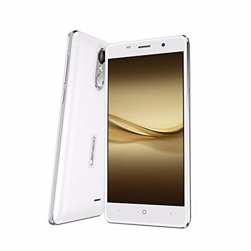 [Lacaca Store]LEAGOO M5 3G 5 '' HD 1280 * 720 pixel smartphone sbloccato 2GB 16GB WCDMA Android 6.0 Quad Core 2-SIM TOUCH ID(bianca)