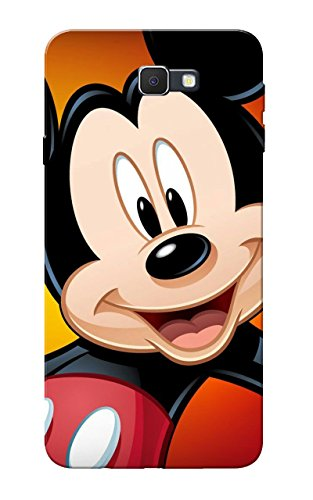 Galaxy J7 Prime Case, Mickey Mouse Face Slim Fit Hard Case Cover/Back Cover for Samsung Galaxy J7 Prime  available at amazon for Rs.99