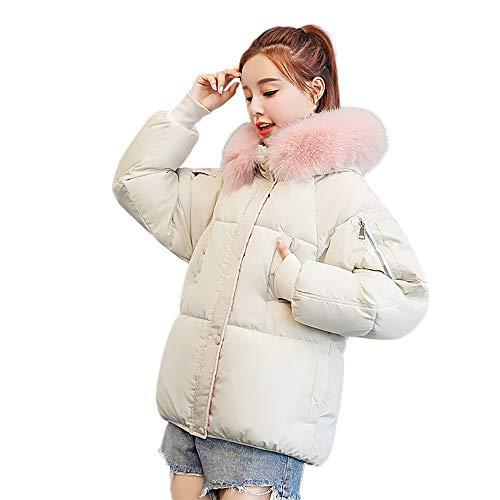 VEMOW Wintermantel Heißer Elegante Damen Frauen Winter Warm Lässige Daily Sport Freizeit Oberbekleidung Mit Kapuze Schlank Baumwolle gefütterte Jacke(X4-Weiß, EU-38/CN-L)