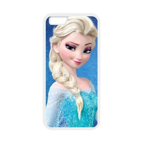 Frozen PC and Étui en silicone TPU Coque iPhone 6Coque avec Screen Protector (White/Black)