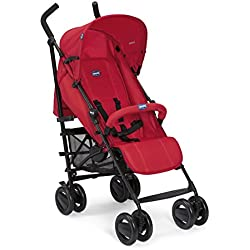 Chicco - Poussette Canne London Up - Poussette Canne avec Arceau, Compacte, Inclinable 4 positions - Red Passion