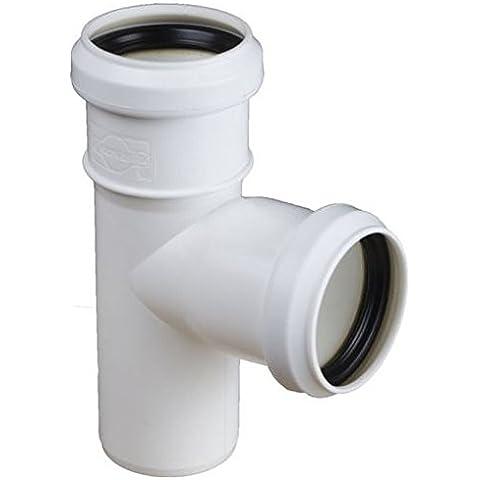 Liquami connettore tee posa a giunto 40/40 millimetri angolo di 90 gradi diametro del tubo