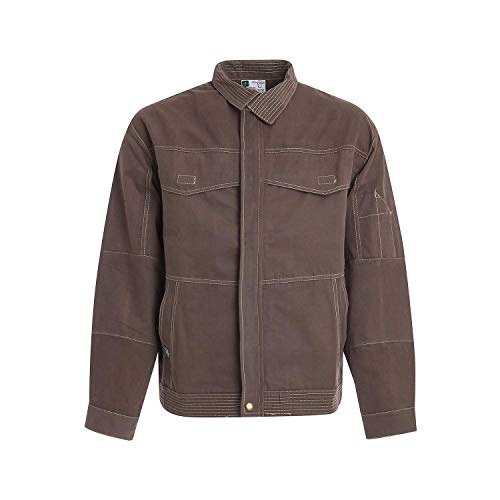 WORK AND STYLE Arbeitsblouson Den - Linie Immagine Taupe, S - Taupe Strauß