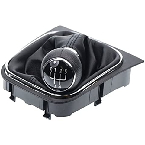 L & P 256–2funda para palanca de cambio para + Pomo para + Marco para Volkswagen Eos Golf 5+ 6V + VI Jetta Juego completo 5velocidades como Plug Play para Notebook