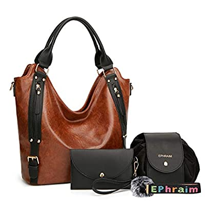 Women Handbags Hobo Shoulder Bags Tote Synthetic Leather Handbags Fashion Large Capacity Bags 4pcs Tote Bags